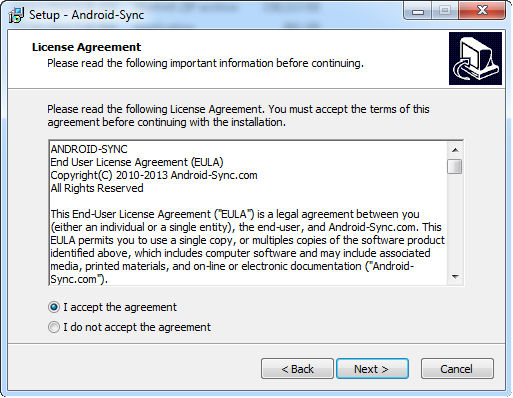 install android sync 2