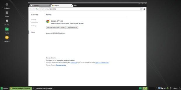 install google chrome on manjaro 0.8.11
