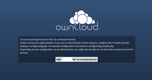 owncloud trusted domain