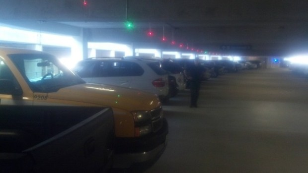 parking with lights