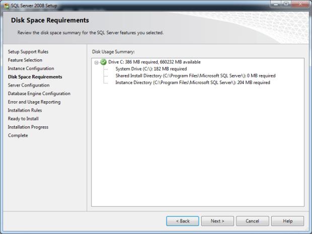 install sqlserver express 9