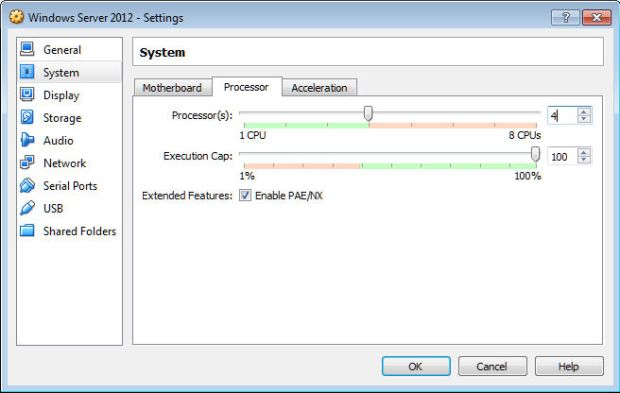 windows server on virtualbox 4