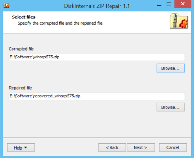 how to repair corrupted zip file