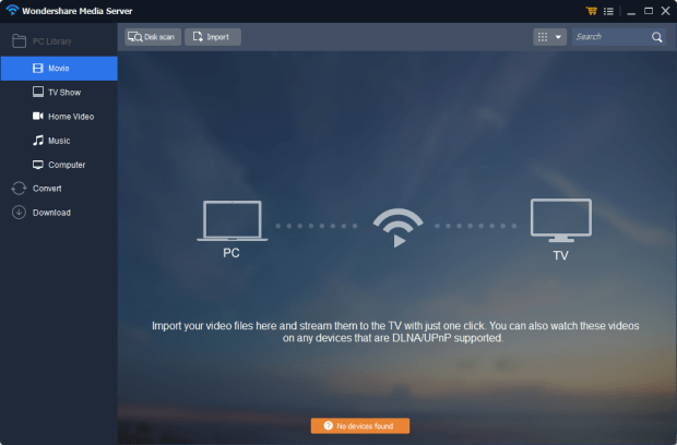 wondershare video converter media streaming