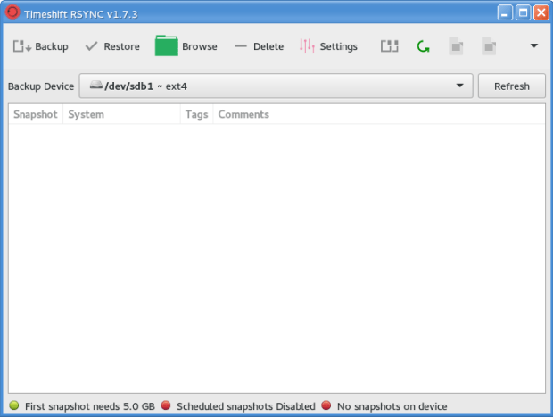 backup manjaro using timeshift 1