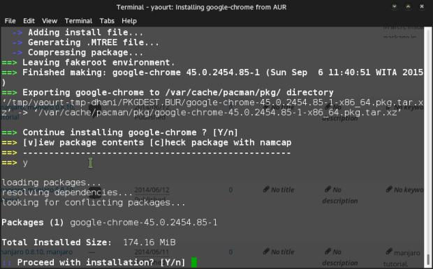 install google chrome on manjaro 0.8.13
