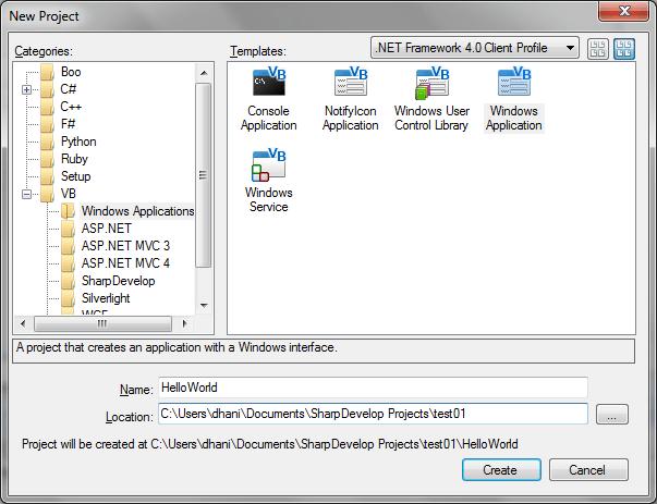 Belajar Visual Basic Programming dengan SharpDevelop