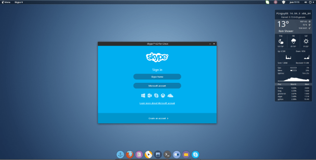 skype on pinguyos 14.04