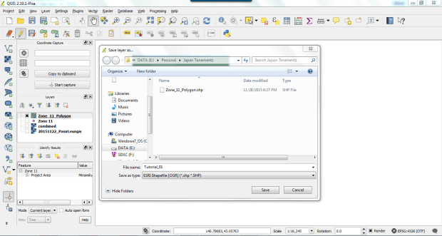 create shapefile on qgis 2