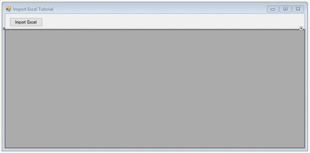 import excel to datagridview
