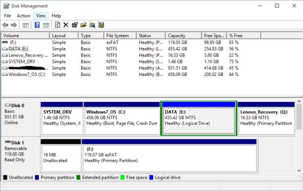 partisi di windows 10 2
