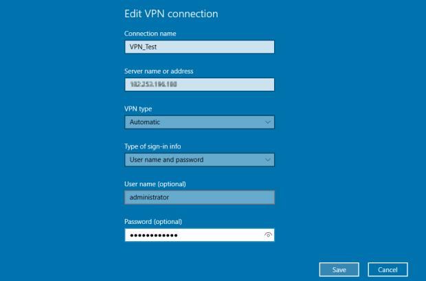 create vpn connection windows 10 9