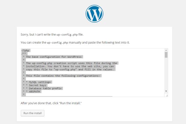 install wordpress on ubuntu 16.04 step 3