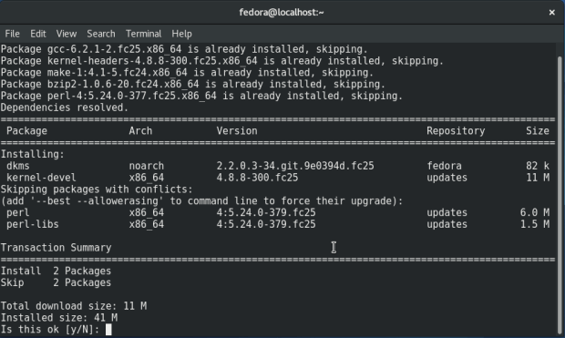 install-kernel-devel-on-fedora-25
