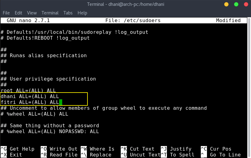 add sudo user on arch.png