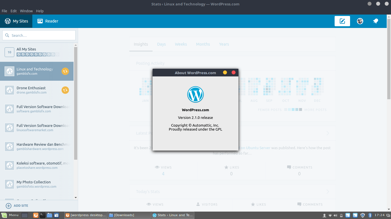 wordpress 2.1.0 for linux.png