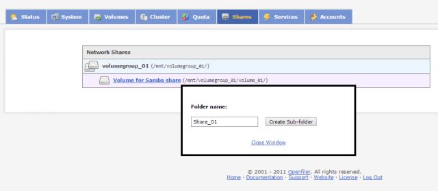 add new samba share on openfiler.png