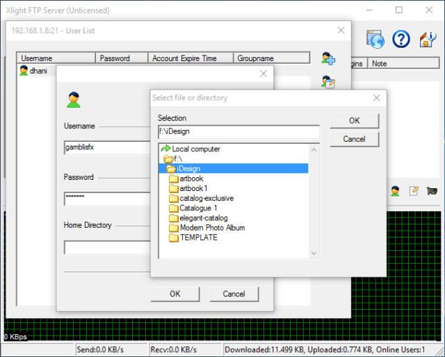 How to create a virtual FTP Server on Windows 10 using