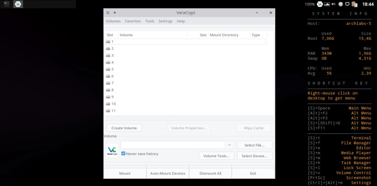 install veracrypt 1.21 on arch linux