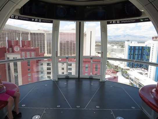 Inside one of the High Roller pods
