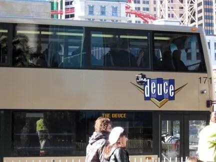 Deuce Bus in Las Vegas