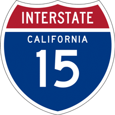 Interstate 15 is the Main Road to Las Vegas from Los Angeles