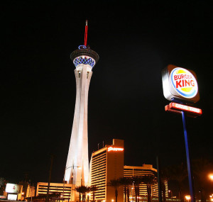 The only Burger King by the Las Vegas Strip is by the Stratosphere