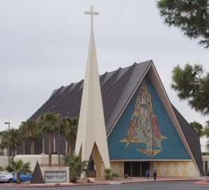 The Guardian Angel is the closest Catholic Church to the north Las Vegas Strip
