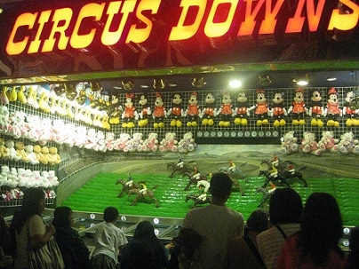A fun carnival game at the Circus Circus Midway
