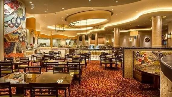 The Gran Via is the popular buffet at the Winstar World Casino & Resort