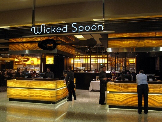The entrance to the Wicked Spoon Buffet at the Cosmopolitan