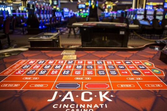 A roulette wheel at Cincinnati's Jack Casino