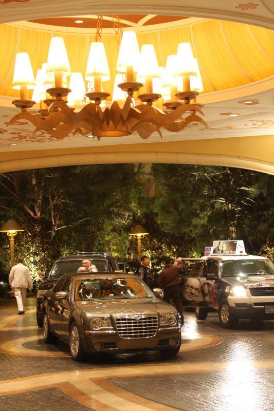 The valet area at the Encore