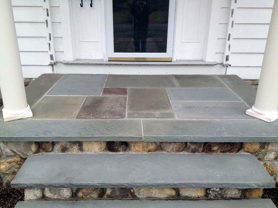 Front Steps Contractor Nj Top Local Mason Concrete Steps | Stone Front Porch Steps Designs | House | Stained Concrete | Round | Stone Walkway | Flagstone