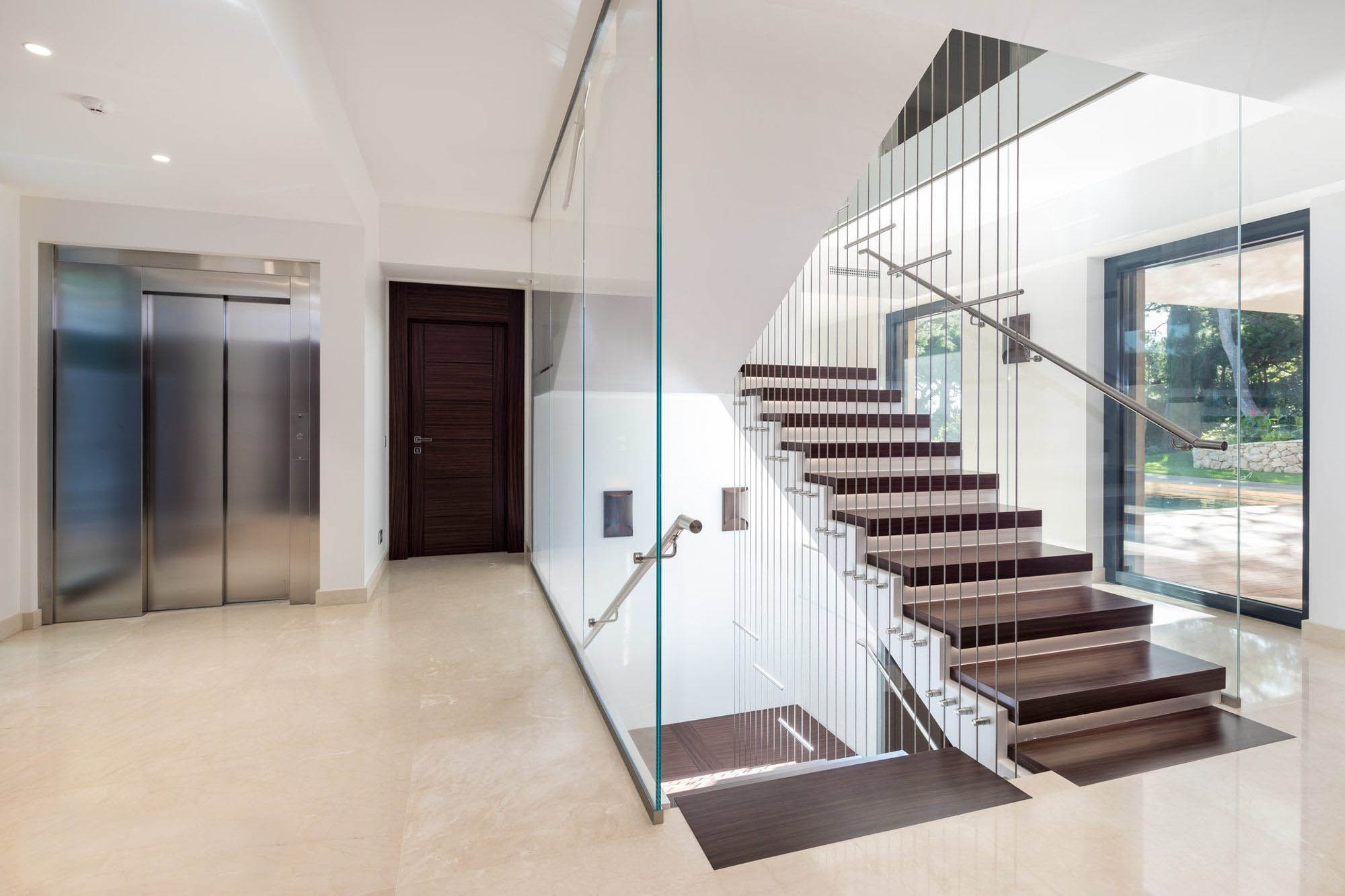 Modern Staircase Design Contemporary Stair Design Ideas   White And Glass Staircase   Step   Before And After   Handrail   Stained   Oak