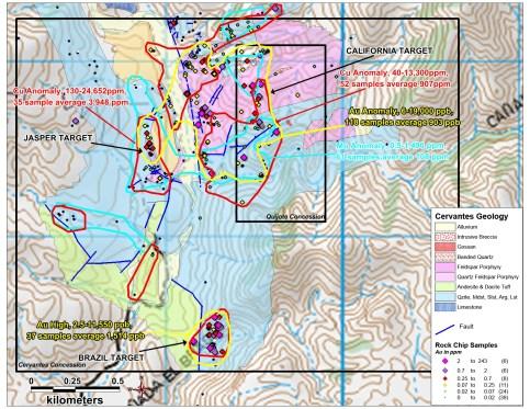 2_Cervantes_Rock_Chip_Contours_Au_Rocks_Geology