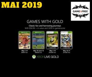 Microsoft dévoile les jeux gratuits du Xbox Live Gold de mai 2019
