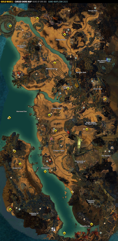 Cursed Shore Map Guild Wars 2