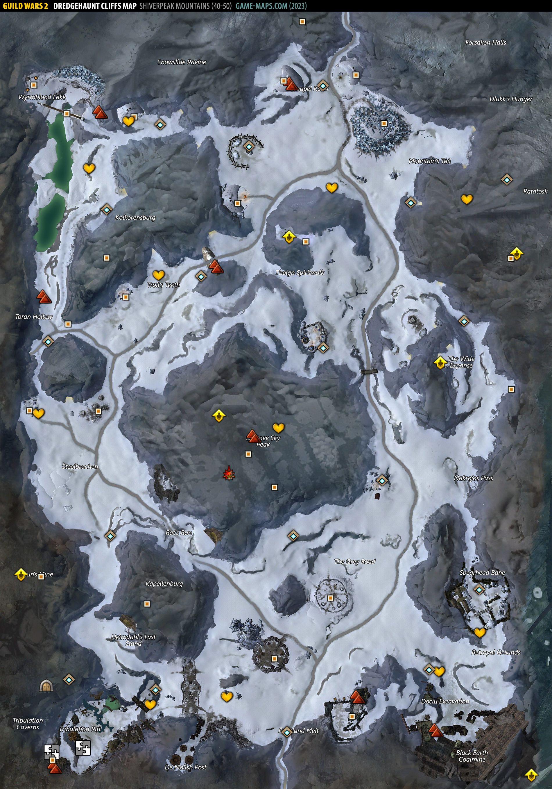 Dredgehaunt Cliffs Map Guild Wars 2