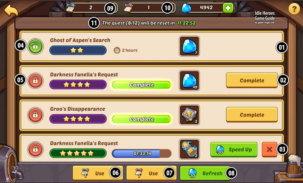 Tavern In Idle Heroes