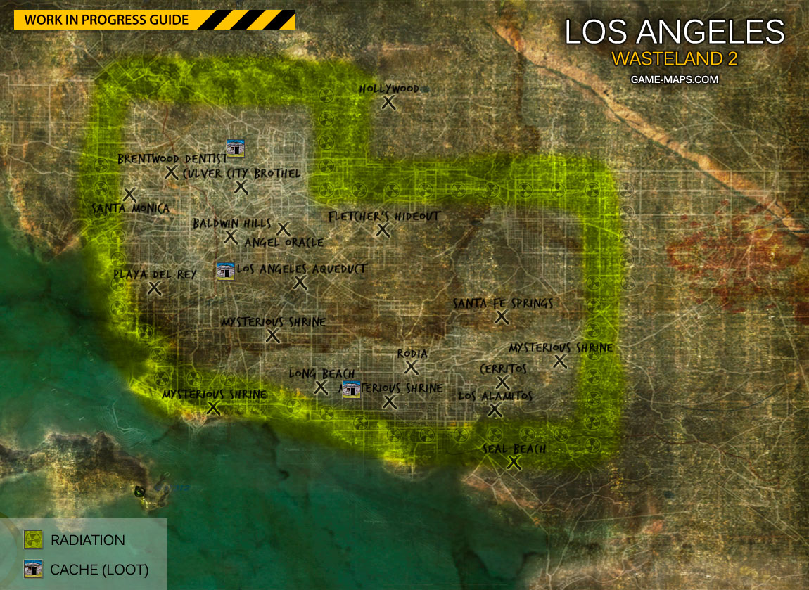 Los Angeles World Map Wasteland 2