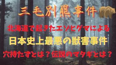 【三毛別羆事件】北海道苫前町で起きた穴持たずのエゾヒグマによる日本史上最悪の獣害事件~討伐したのは伝説のマタギ!?~
