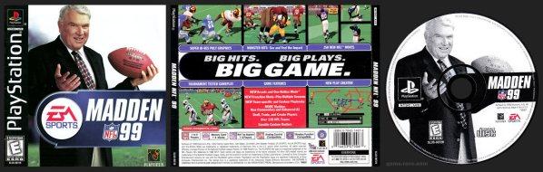 Madden NFL 99 Jewel Case Release