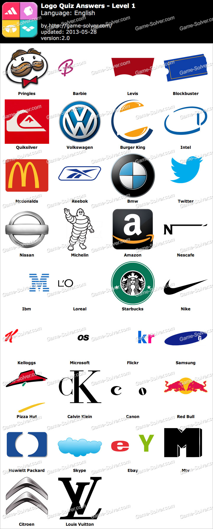 logo quiz answers game solver