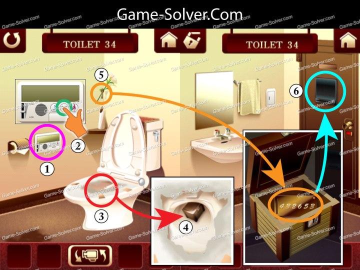 100 Toilets Level 34
