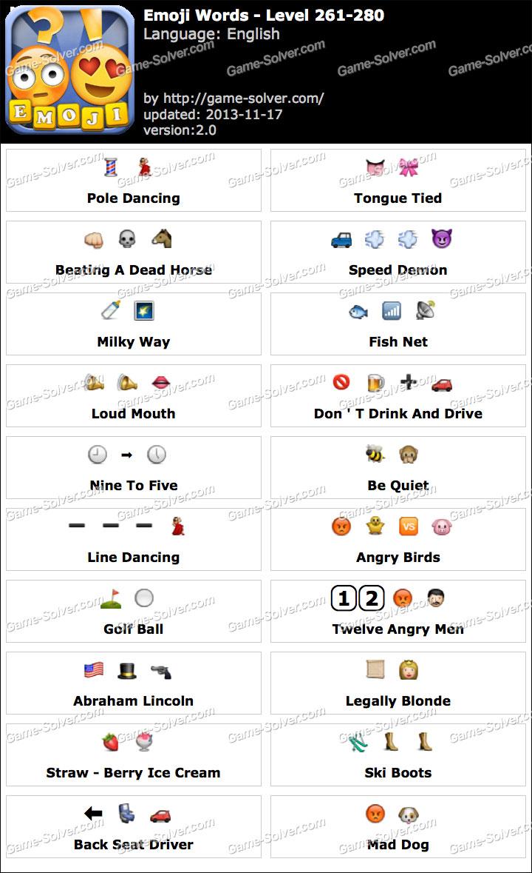 Emoji Words Level 261-280