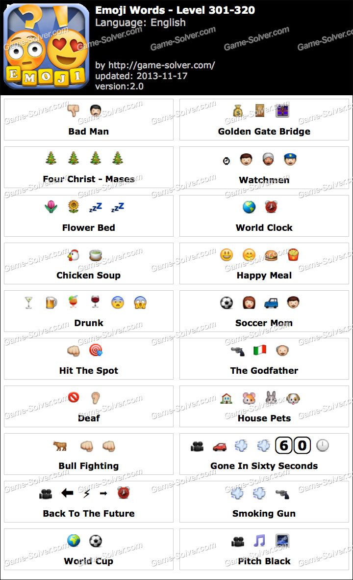 Emoji Words Level 301-320
