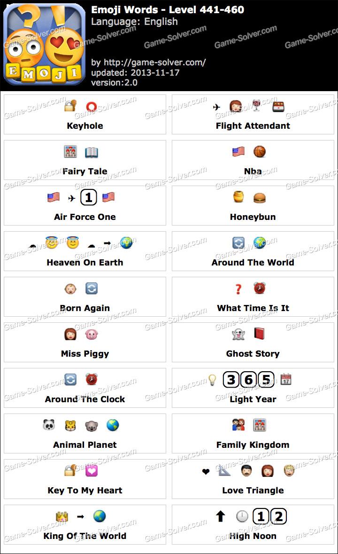 Emoji Words Level 441-460