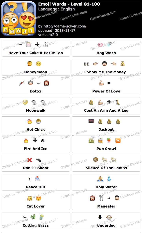 Emoji Words Level 81-100