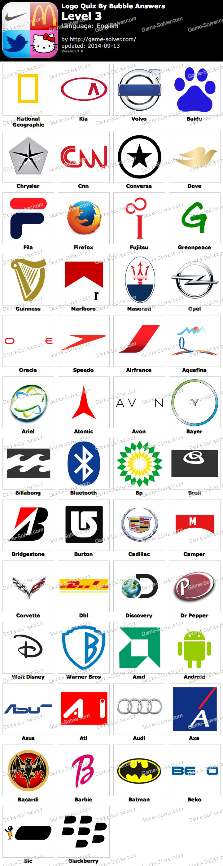 Logo Quiz By Bubble Lösungen